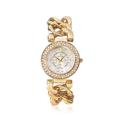 Louis Arden Women's 34mm Gold Plate Watch With Swarovski Crystals, , default