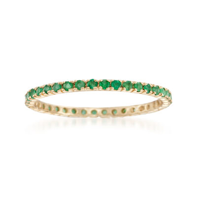 .33 ct. t.w. Emerald Eternity Band in 14kt Yellow Gold, , default