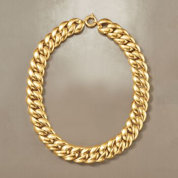 Italian 14kt Yellow Gold Curb-Link Necklace