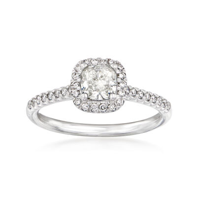 C. 2010 Vintage 1.11 Carat Certified Diamond Engagement Ring in 14kt White Gold