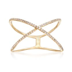 .27 ct. t.w. Diamond Tattoo Ring in 14kt Yellow Gold. Size 5, , default