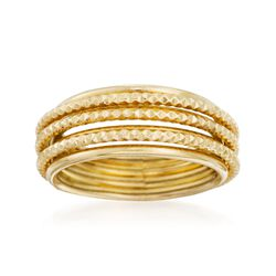 Italian 14kt Yellow Gold Stacked-Look Ring, , default