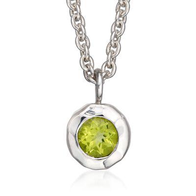 "Zina Sterling Silver ""Sahara"" .50 Carat Peridot Pendant Necklace, , default"