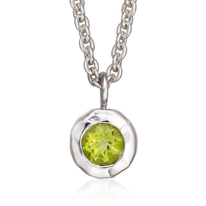 "Zina Sterling Silver ""Sahara"" .50 Carat Peridot Pendant Necklace"