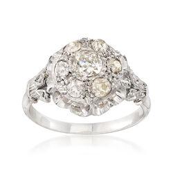 C. 1950 Vintage 1.55 ct. t.w. Diamond Cluster Ring in Platinum, , default