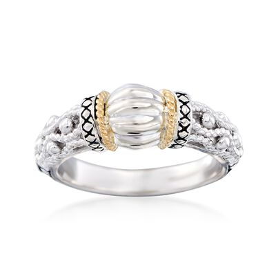 "Andrea Candela ""La Corona"" Sterling Silver and 18kt Yellow Gold Ring, , default"
