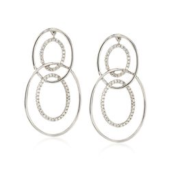 .33 ct. t.w. Diamond Multi-Circle Drop Earrings in 14kt White Gold, , default