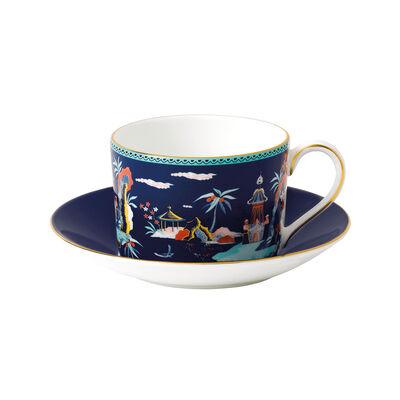 "Wedgwood ""Wonderlust"" Blue Pagoda 2-pc. Teacup and Saucer, , default"