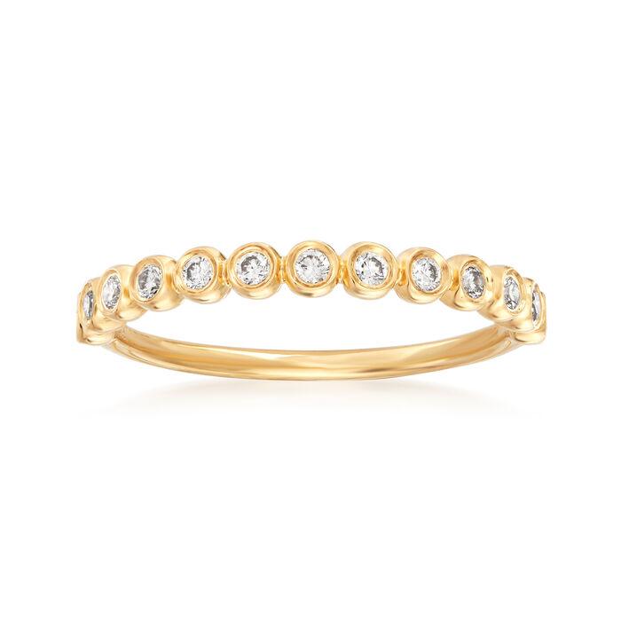 Henri Daussi .21 ct. t.w. Diamond Wedding Ring in 14kt Yellow Gold
