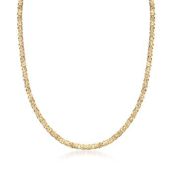 """14kt Yellow Gold Byzantine Necklace. 18"""", , default"""