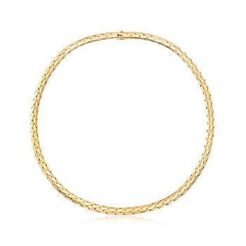 """C. 1980 Vintage Cartier 18kt Yellow Gold Round Woven-Link Necklace. 15.75"""", , default"""