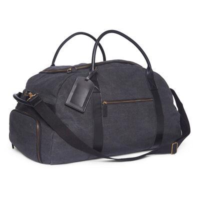 "Brouk & Co. ""Ballistic"" Black Waxed Canvas Duffel Bag, , default"
