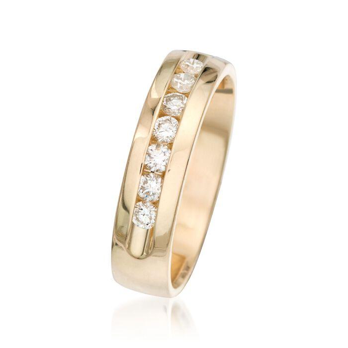 Men's .50 ct. t.w. Diamond Wedding Ring in 14kt Yellow Gold