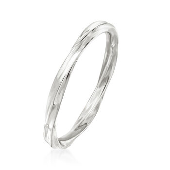 18kt White Gold Twisted Ring