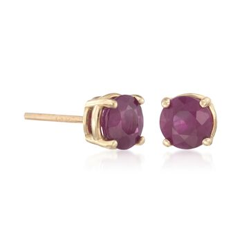 1.25 ct. t.w. Ruby Stud Earrings in 14kt Yellow Gold, , default