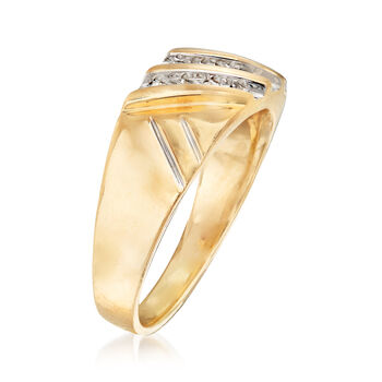C. 1990 Vintage Men's .25 ct. t.w. Diamond Ring in 14kt Yellow Gold. Size 9.5, , default