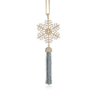 Joanna Buchanan Snowflake and Tassel Ornament, , default