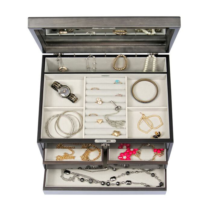 "Mele & Co. ""Claudia"" Locking Jewelry Chest"