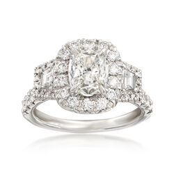 Henri Daussi 2.67 ct. t.w. Certified Diamond Ring in 18kt White Gold, , default