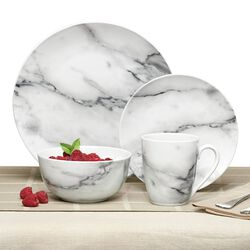 Porcelain Marble-Style Dinnerware , , default