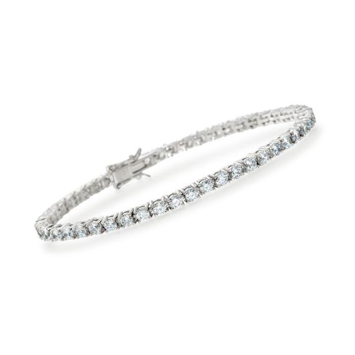 5.00 ct. t.w. CZ Tennis Bracelet in Sterling Silver, , default