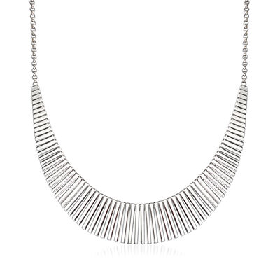 "Charles Garnier ""Cleopatra"" Sterling Silver Large Bib Necklace"