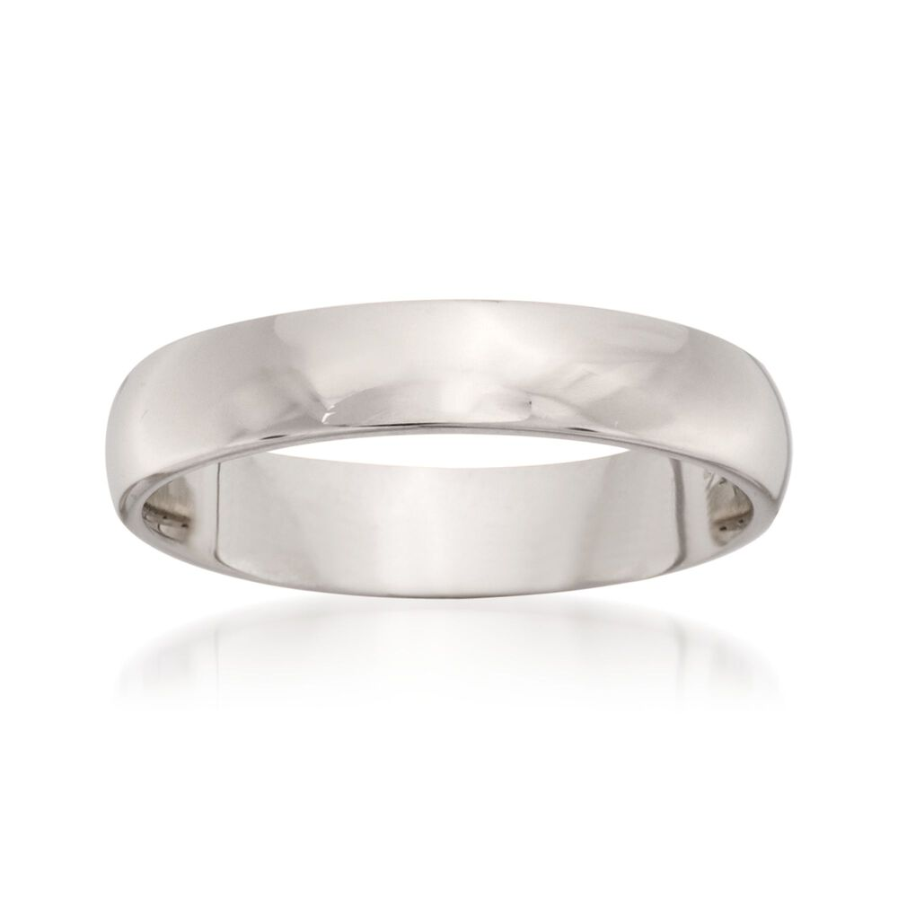 Women S 4mm 14kt White Gold Wedding Ring Default