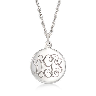 Sterling Silver Personalized Round Locket Necklace