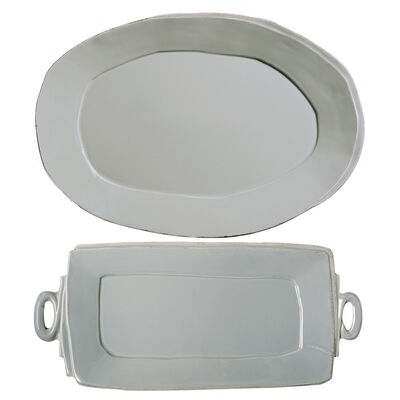 "Vietri ""Lastra"" Gray Platter from Italy"