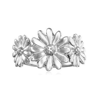 Italian Sterling Silver Daisy Ring