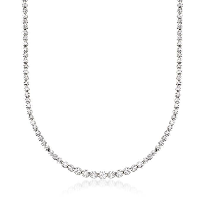 2.50 ct. t.w. Graduated Diamond Tennis Necklace in 14kt White Gold, , default