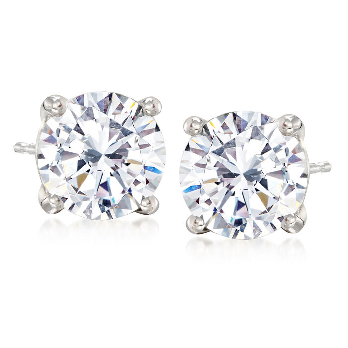 4.00 ct. t.w. Diamond Stud Earrings in Platinum, , default