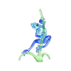 "Swarovski Crystal ""Frog on a Branch"" Blue and Green Crystal Figurine, , default"