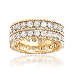 3.00 ct. t.w. Diamond Double-Row Eternity Band in 14kt Yellow Gold, , default