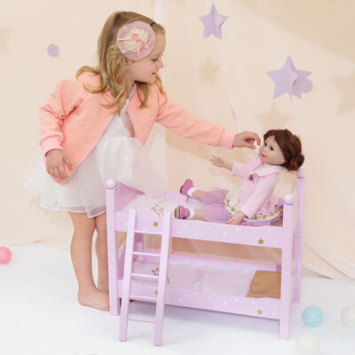 "Child's ""Twinkle Star Princess"" Doll Double Bunk Bed"