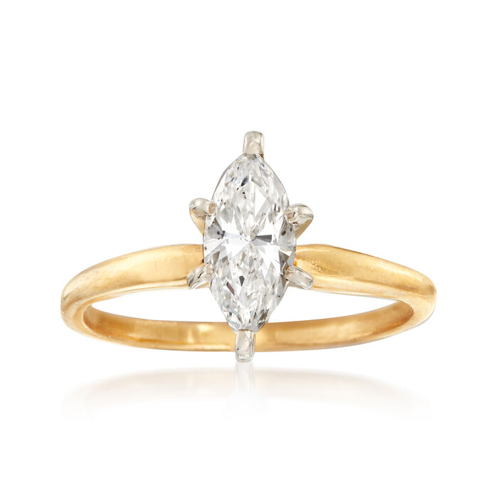 .74 Carat Diamond Solitaire Engagement Ring in 14kt Yellow Gold