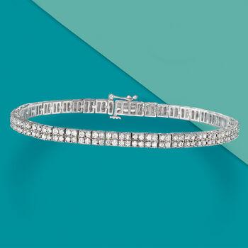 3.00 ct. t.w. Diamond Double-Row Bracelet in Sterling Silver