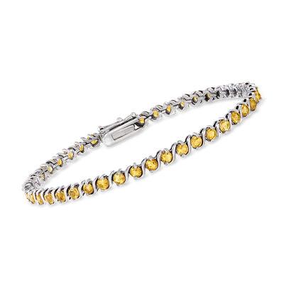 3.50 ct. t.w. Citrine Tennis Bracelet in Sterling Silver