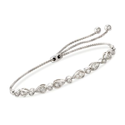 .50 ct. t.w. Diamond Bolo Bracelet in 14kt White Gold, , default