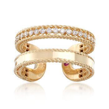 "Roberto Coin ""Symphony Princess"" .30 ct. t.w. Diamond Double Row Ring. Size 7, , default"