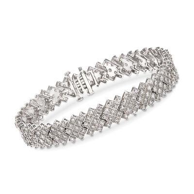 5.00 ct. t.w. Diamond Multi-Row Bracelet in 14kt White Gold, , default