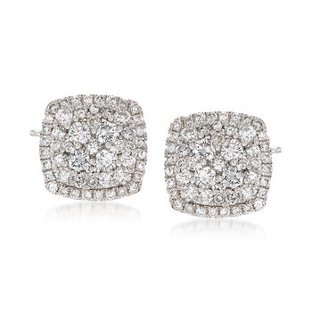 1.00 ct. t.w. Diamond Illusion Stud Earrings in 14kt White Gold, , default