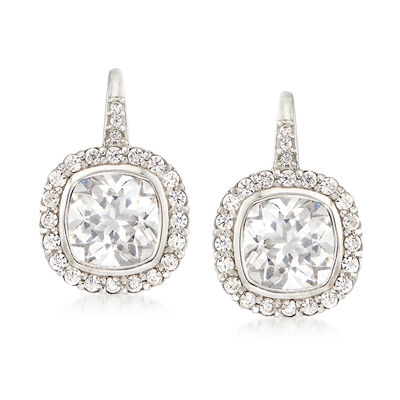 4.63 ct. t.w. CZ Drop Earrings in Sterling Silver , , default