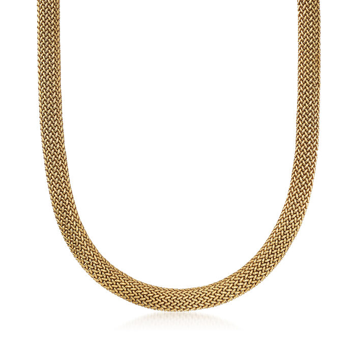 C. 1990 Vintage Tiffany Jewelry 18kt Yellow Gold Mesh Necklace