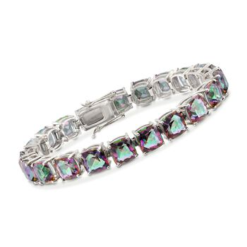 45.00 ct. t.w. Multicolored Quartz Tennis Bracelet in Sterling Silver, , default