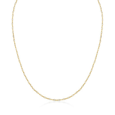 8.00 ct. t.w. CZ 3-In-1 Necklace, Mask Holder and Eyeglass Chain in 18kt Gold Over Sterling