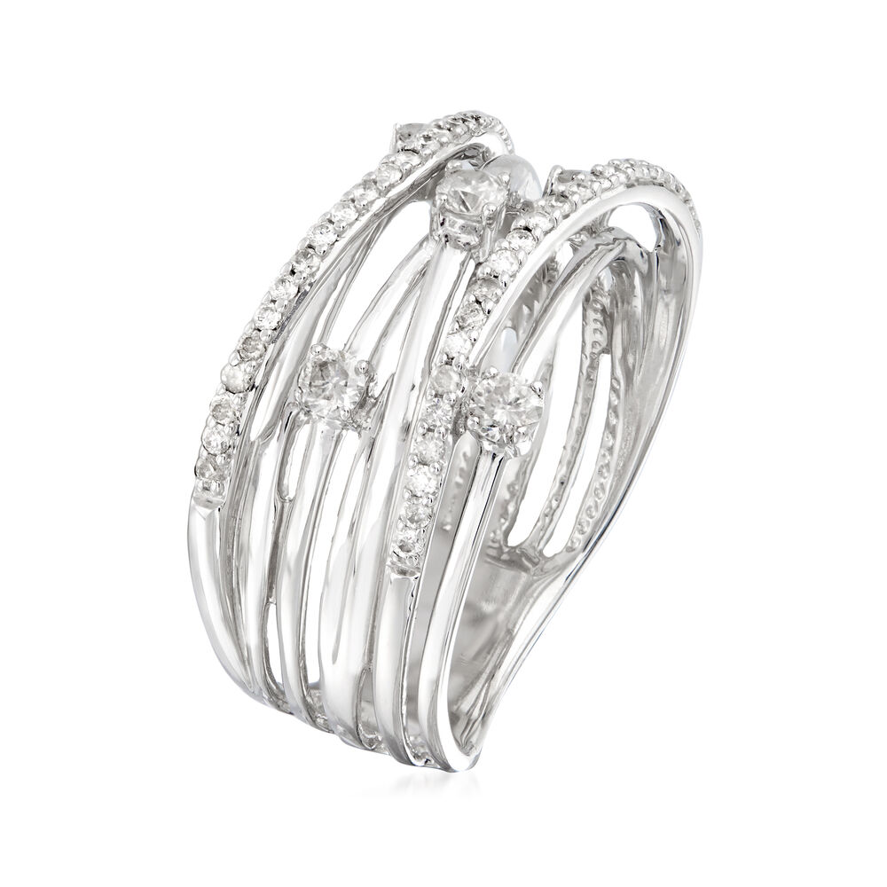 .51 ct. t.w. Diamond Highway Ring in Sterling Silver