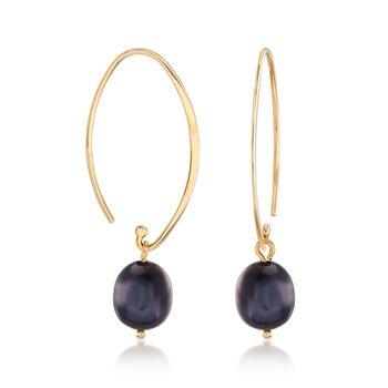 Cultured Pearl Interchangeable Wire Drop Earrings in 14kt Yellow Gold, , default