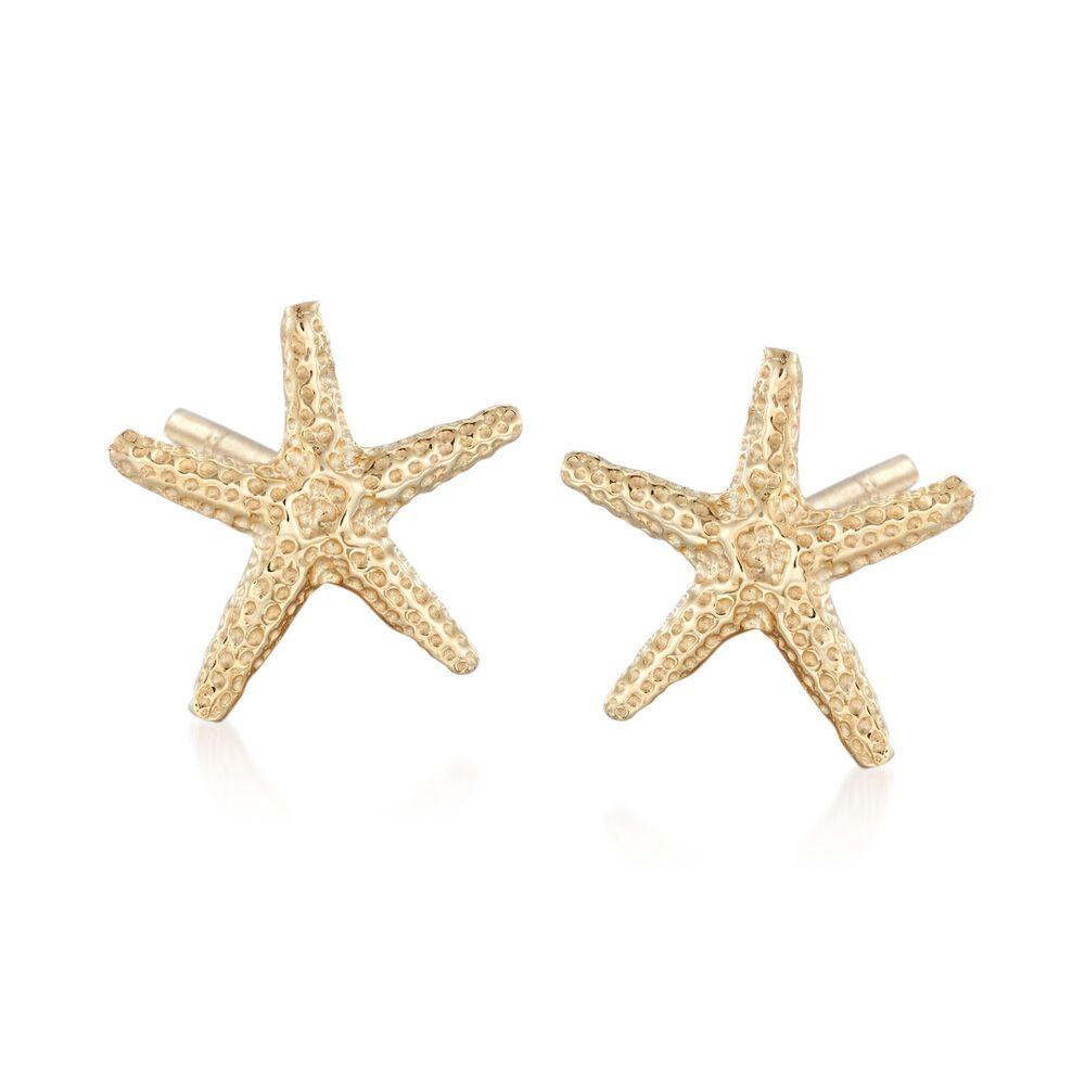 14kt Yellow Gold Starfish Stud Earrings Default