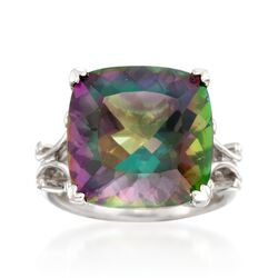 13.00 Carat Multicolored Quartz Ring in Sterling Silver, , default